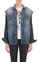 R13 Double Denim Combo Jacket - Lyst