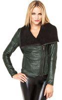 Blank Cowl Neck Jacket - Lyst