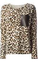 MICHAEL Michael Kors Leopard Print Sweater - Lyst