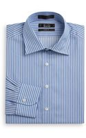Saks Fifth Avenue Black Label Striped Cotton Slim-fit Dress Shirt - Lyst