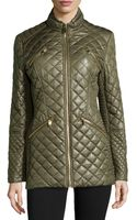 Via Spiga Quilted Zip Pocket Jacket  - Lyst