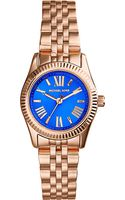 Michael Kors Mini Lexington Goldplated Purple Watch Purple - Lyst