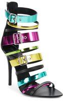 Giuseppe Zanotti Multi Color Metallic Leather Strappy Sandals - Lyst