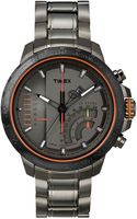 Timex® Mens Premium Intelligent Quartz Linear Chronograph Gray Ionplated Stainless Steel Bracelet Watch 47mm T2p273ab - Lyst
