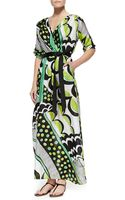 Melissa Masse Printed Charmeuse Maxi Dress - Lyst