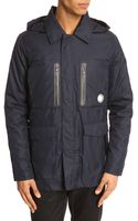 Kenzo Navy Parka with Waterproof Print Jacket - Lyst