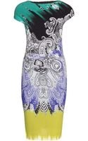 Etro Printed Crepejersey Dress - Lyst