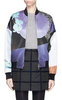 3.1 Phillip Lim Floral Collage Bomber Jacket - Lyst