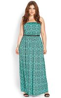 Forever 21 Voyager Strapless Maxi Dress - Lyst