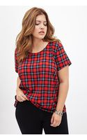 Forever 21 Tartan Plaid Woven Tee - Lyst