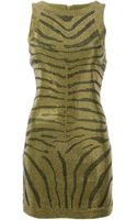 Balmain Zebra Dress - Lyst