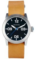 Nixon Private Watch with Brown Leather Strap A049 - Lyst