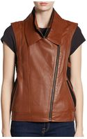 Twelfth Street Cynthia Vincent Leather and Wool Vest - Lyst