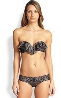 Zimmermann Tiger-print Ruffle Bikini Top - Lyst