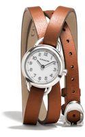 Coach Dree Stainless Steel Wrap Watch - Lyst