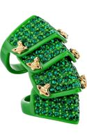 Vivienne Westwood Resin Pave Armour Ring - Lyst