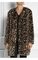 Nina Ricci Leopardprint Faux Fur Coat - Lyst