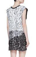 Helmut Lang Annex Printed Pleated Silk Dress - Lyst