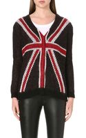 The Kooples Union Jack Knitted Cardigan - Lyst