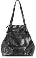 Maison Martin Margiela Black Leather Shopping Bag - Lyst