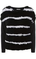 Alice + Olivia Fur Front Sweater - Lyst