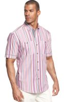 Sean John Miami Striped Shirt - Lyst