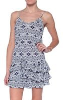 Twelfth Street Cynthia Vincent Cami Waisted Ruffled Hem Mini Dress - Lyst