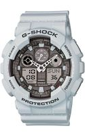 G-shock Mens Ice Gray Digitalanalog Watch - Lyst