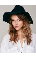 Free People Extended Brim Clipperton Fedora - Lyst