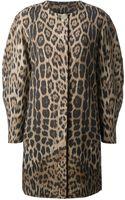 Roberto Cavalli Leopard Print Coat - Lyst