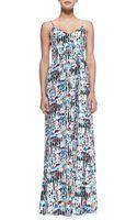 Parker Niko Stripedfloral-print Maxi Dress - Lyst