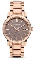 Burberry Rosegold Check Bracelet Watch 38mm - Lyst