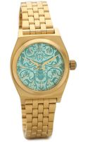 Nixon Small Time Teller Watch - Goldblue - Lyst