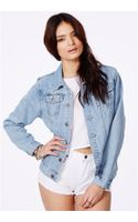 Missguided Carelyn Denim Jacket in Vintage Wash Campaign - Lyst