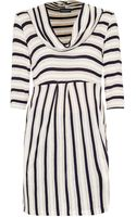 James Lakeland Stripe Cowl Neck Dress - Lyst