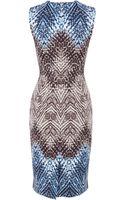 Karen Millen Tribal Print Shift Dress - Lyst