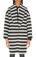 Alice + Olivia Ralter Striped Oversized Coat - Lyst