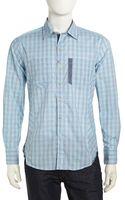 Robert Graham Plaid Woven Sport Shirt Sky Medium - Lyst