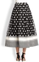 Sachin & Babi Dehlila Embroidered Silk Organza Skirt - Lyst
