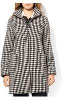 Ralph Lauren Lauren Plus Wool Blend Houndstooth Coat - Lyst