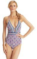 Nanette Lepore Mallorca Mosaic One Piece Swimsuit - Lyst