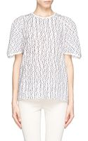 Chloé Wool Polka Dot Semi Sheer T-Shirt - Lyst