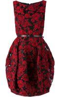 Oscar de la Renta Floral Print Tulip Dress - Lyst