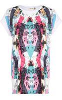 River Island Floral Geometric Print T-Shirt - Lyst