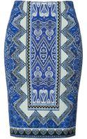 Etro Printed Pencil Skirt - Lyst