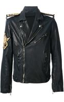 Balmain Nautical Biker Jacket - Lyst
