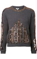 Kenzo Sequin Pullover Sweater - Lyst