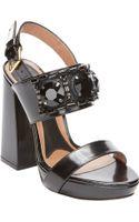 Marni Embellished Slingback Platform Sandals - Lyst