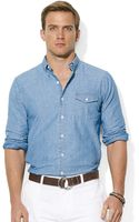 Polo Ralph Lauren Chambray Bleecker Pocket Shirt - Lyst