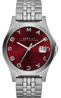 Marc By Marc Jacobs The Slim Stainless Steel Watch Red - Lyst